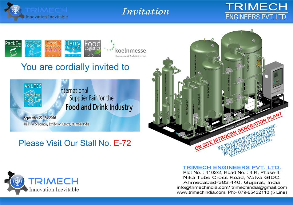 Trimech India at India's No  1 International Food Expo - ANUTEC